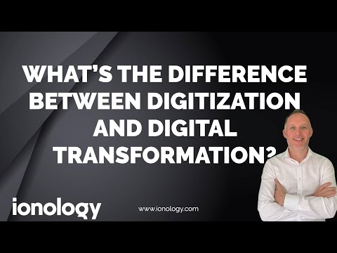 The difference between digitization and digital transformation