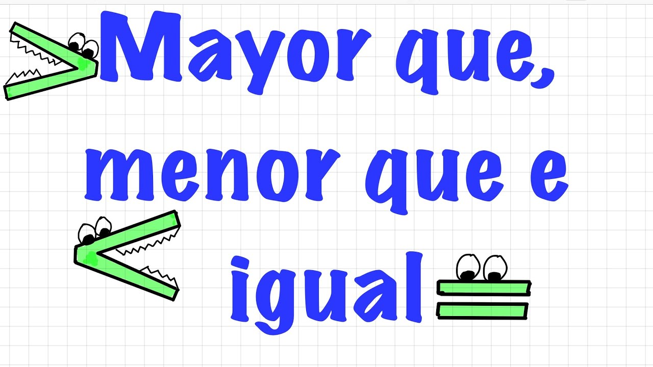 Menor Que Mayor Que E Igual Que Para Niños Aprende En Casa 29 De Mayo Mayor O Menor Youtube