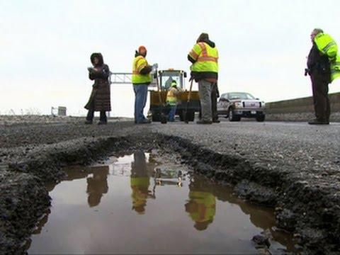Potholes plague towns across Northeast and Midwest Mp3