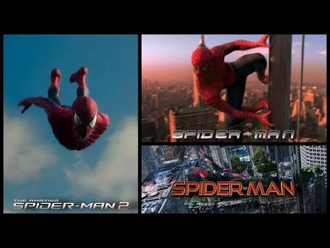 Spider-man   Tobey Maguire, Andrew Garfield and Tom holland Spider-man swinging scenes