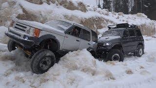 Уаз Патриот И Land Rover Discovery На Бездорожье ... Scale Rc Cars