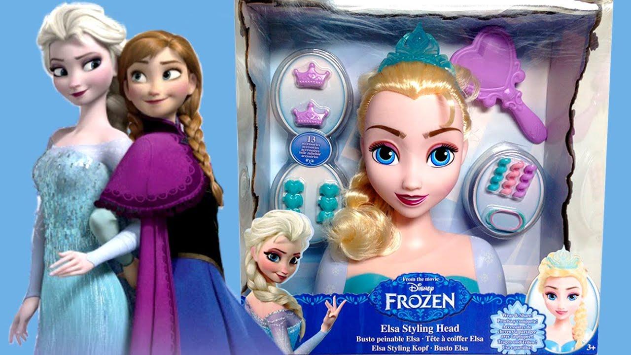FROZEN Elsa Styling Head How To Comb Elsa's Hair DIY ...