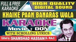 Khaike Pan Banaraswala   Karaoke (HD) With Lyrics I DON I Amitabh Bachchan by Shamshad Hassan