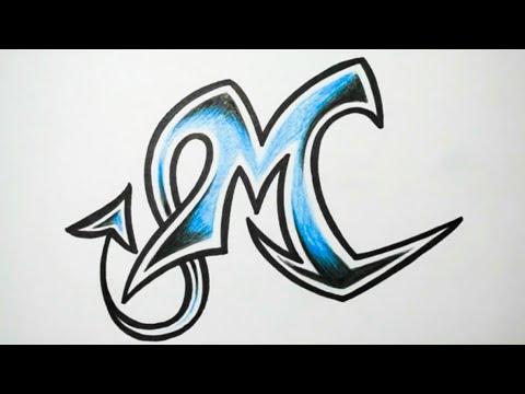 تعليم رسم حرف M بطريقة جميلة Youtube