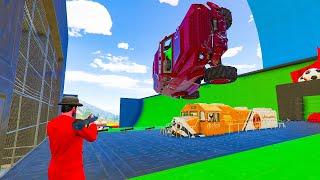 14-Player RPGS VS Cars VS Trains Minigame - GTA V Online Funny Moments | JeromeACE