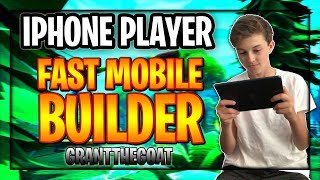 PRO Mobile PLAYER on iPhone! // FAST Builder! // Road To 20K! // Fortnite Mobile Gameplay!