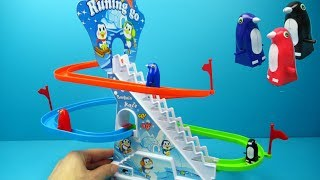 Penguin Race Toy | Funny toy review and playing for kids 