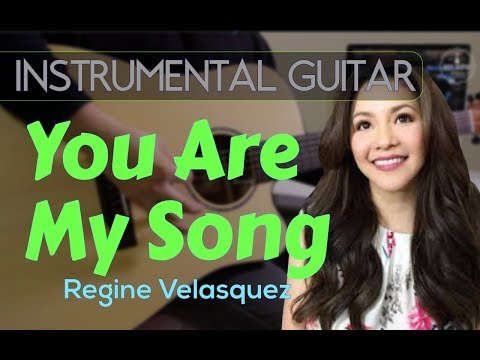 Regine Velasquez  - You are my song instrumental guitar karaoke version cover with lyrics