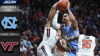 North Carolina vs. Virginia Tech Condensed Game | 2019-20 ACC Men's Basketball