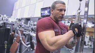 Тренировка трицепсов. Станислав Линдовер.