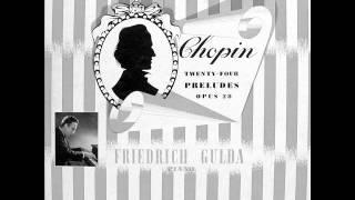 FRIEDRICH GULDA plays CHOPIN 24 Préludes Op.28 COMPLETE (1953)