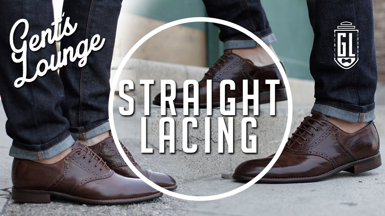 How To Bar Lace Your Shoes Easy Men S Fashion Lacing 101 Gent Lounge You