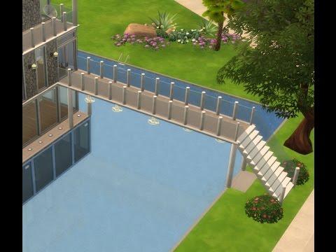 Ponte sobre a piscina the sims 4 youtube for Piscina sims 4