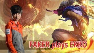 Faker chơi thử EKKO hốt PENTAKILL