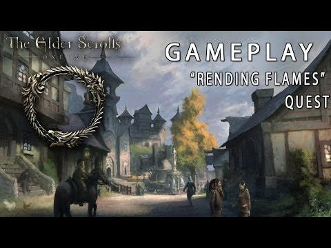 Elder Scrolls Online Gameplay Footage! 'Rending Flames' Quest (Puzzles) ESO BETA Gameplay