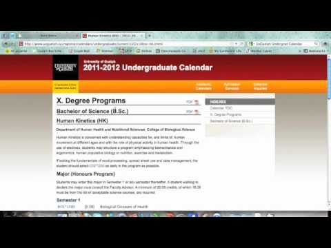 Course Selection University of Guelph