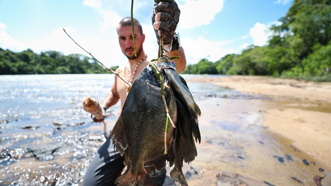 primal-spearfishing-for-giant-piranha-in-rapids-ep-3