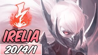 FULL AD LETHALITY IRELIA MID | 95% K. Participation | New Build & Runes | League of Legends | S9