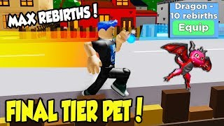 Tengo el PET FINAL TIER en DASHING SIMULATOR!! *MAX REBIRTHS* (Roblox)