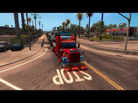 🎮 American Truck Simulator Peterbilt 389 Custom With Loud Jake Brake and Train Horn