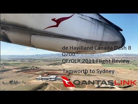 QantasLink Economy QF2011 Tamworth - Sydney DHC Dash 8 Q200 | TRIP REPORT