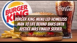 Burger King Menu Led Man 2 Life Behind Bars