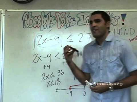 Algebra - Absolute Value Inequalities