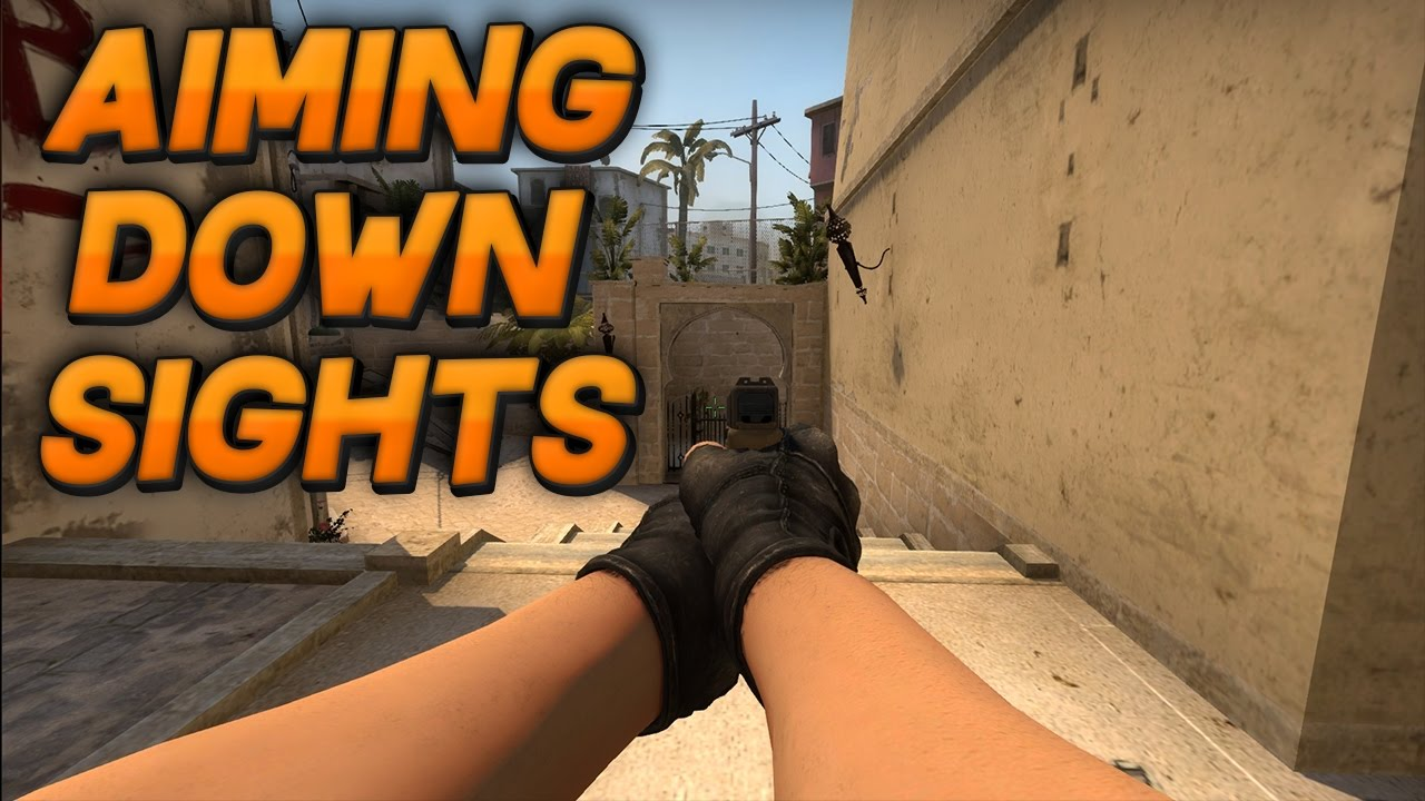 How To AIM DOWN SIGHTS In CSGO! (kind of)