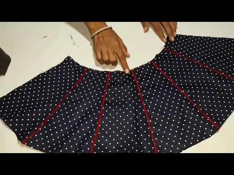 Umbrella Frock Cutting And Stitching In Hindi