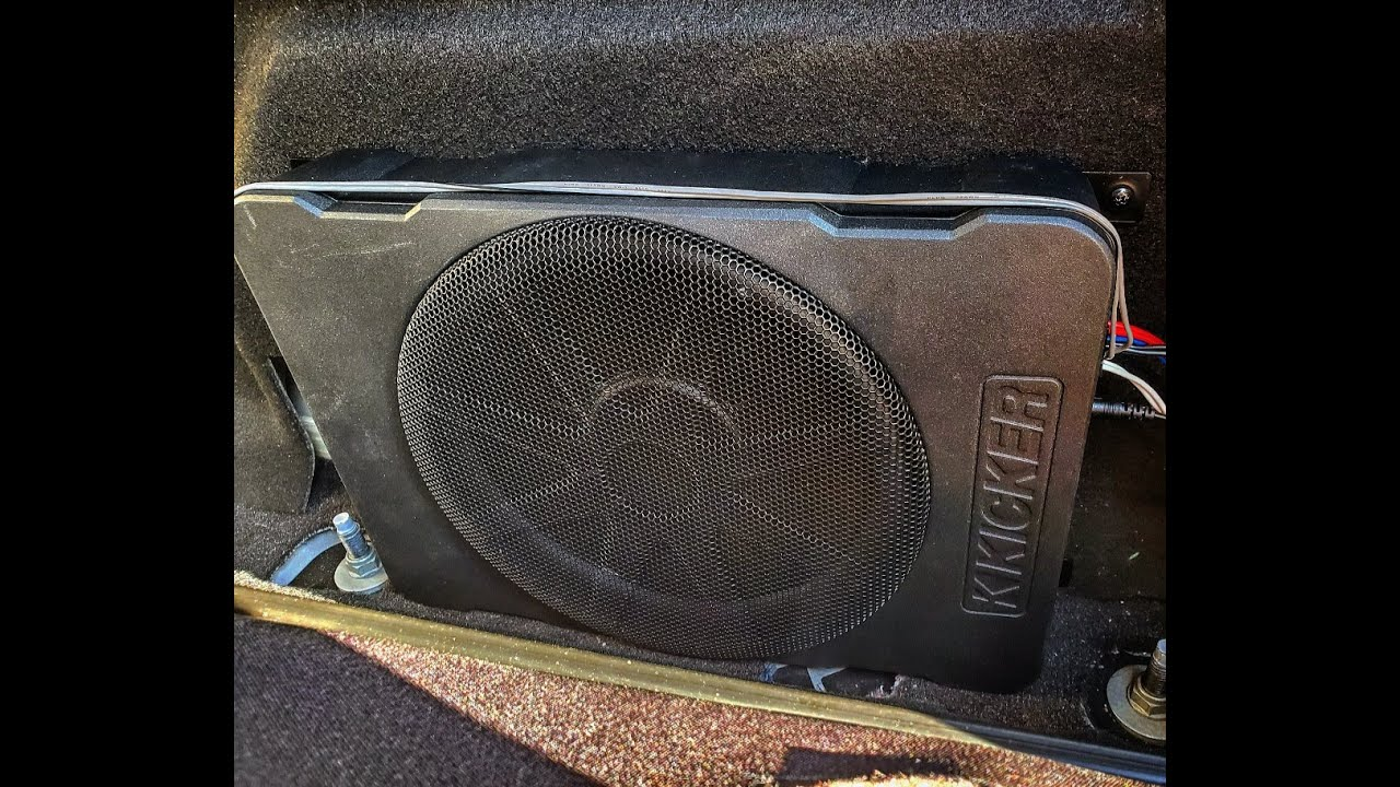 Reviewing INSTALL SUB/AMP BEHIND F150 REAR SEAT, KICKER 10
