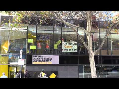 Enviornmentalists Occupy Melbourne Commonwealth Bank Offices