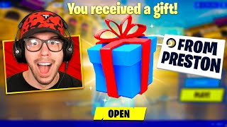 Gifting Fortnite Skins to 24 YouTubers!