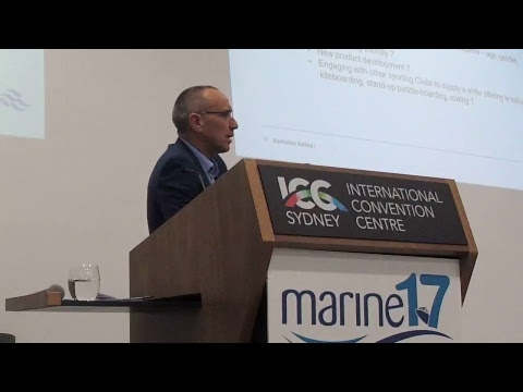 John Lee CEO  Australian Sailing at Marine 17  Sydney Convention Centre
