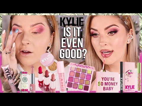 IS IT EVEN GOOD? 👀 Kylie Cosmetics BIRTHDAY COLLECTION 2019 thumbnail