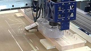 Using the CNC machine to create louvered doors.