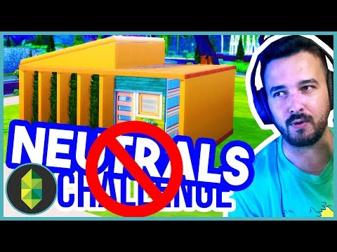 NO NEUTRAL Colours Build Challenge | The Sims 4