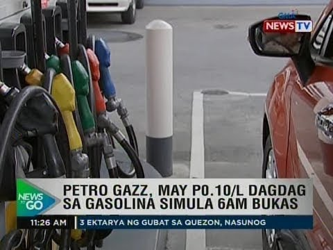 NTG: Petro gazz, may P0.10/L dagdag sa gasolina simula 6AM bukas