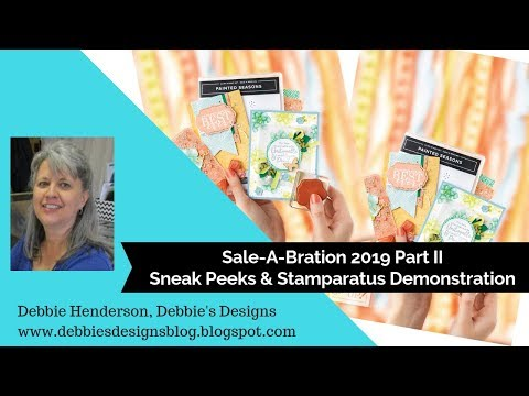 Stampin' Up! Sale-A-Bration 2019 Part II, Sneak Peeks - YouTube