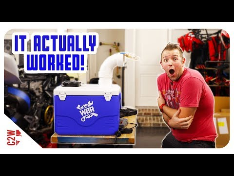 We turned this COOLER into an AC for the garage - DIY portable air conditioner