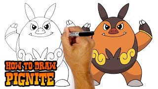 How to Draw Pignite | Pokemon