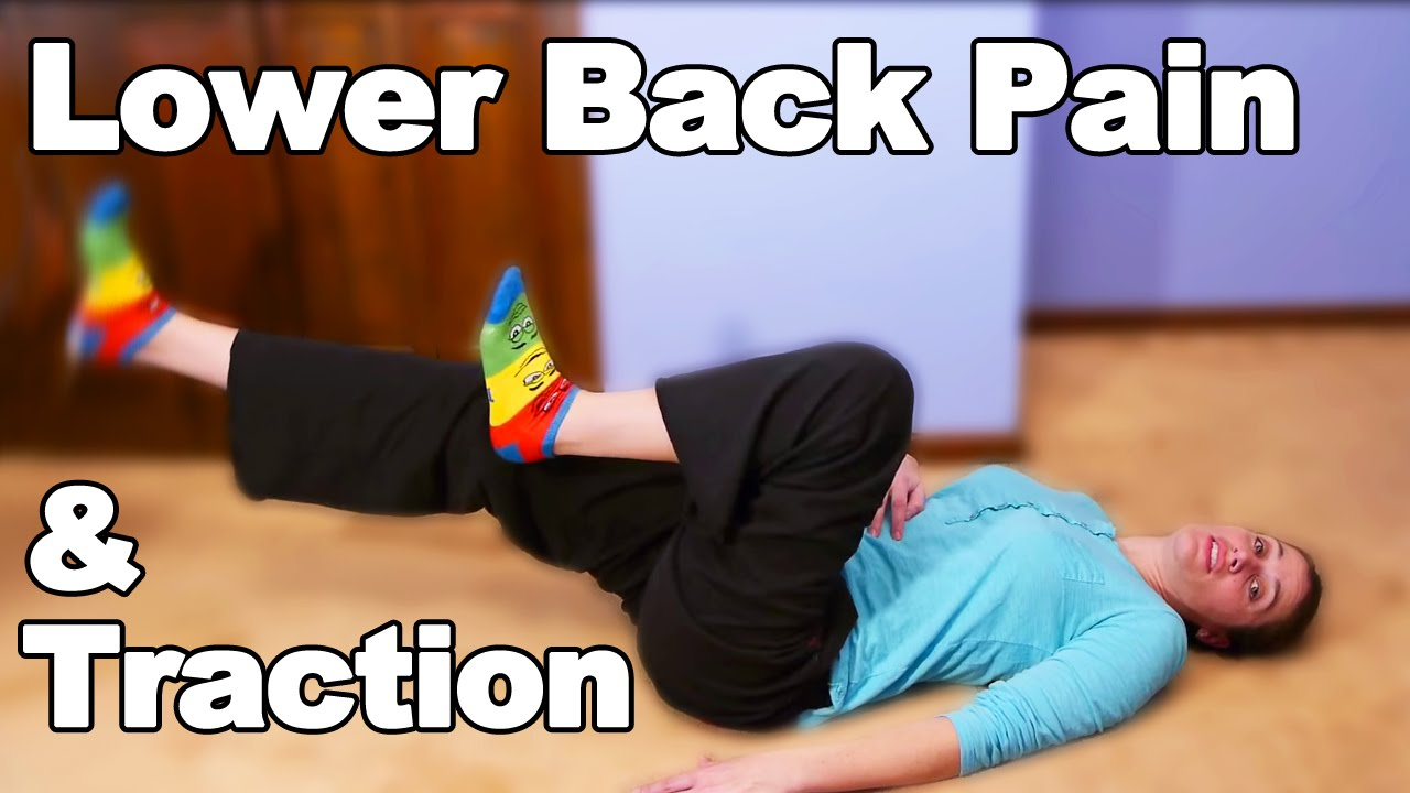 Lower Back Pain Exercises & Traction - Ask Doctor Jo - YouTube
