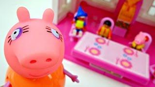 Видео с игрушками про Свинку Пеппу - Джордж в детском саду