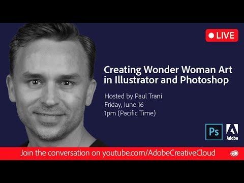 Creating Wonder Woman Artwork in Illustrator and Photoshop