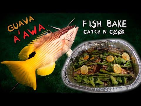 HAWAIIAN HOGFISH Aka A`awa Guava Fish Bake - Catch And Cook - Spearfishing Hawaii