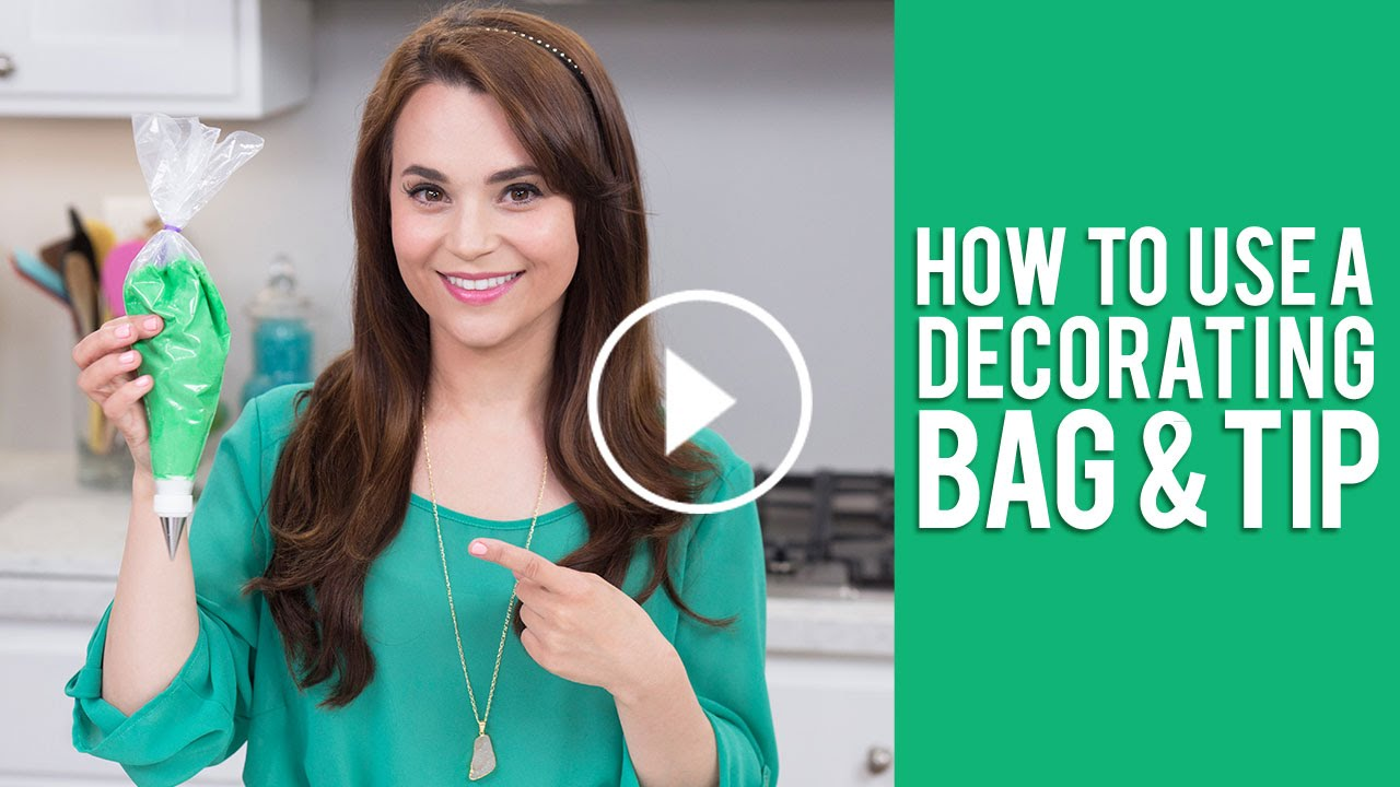 How To Use A Decorating Bag Tip Rosanna Pansino Video Tutorial You