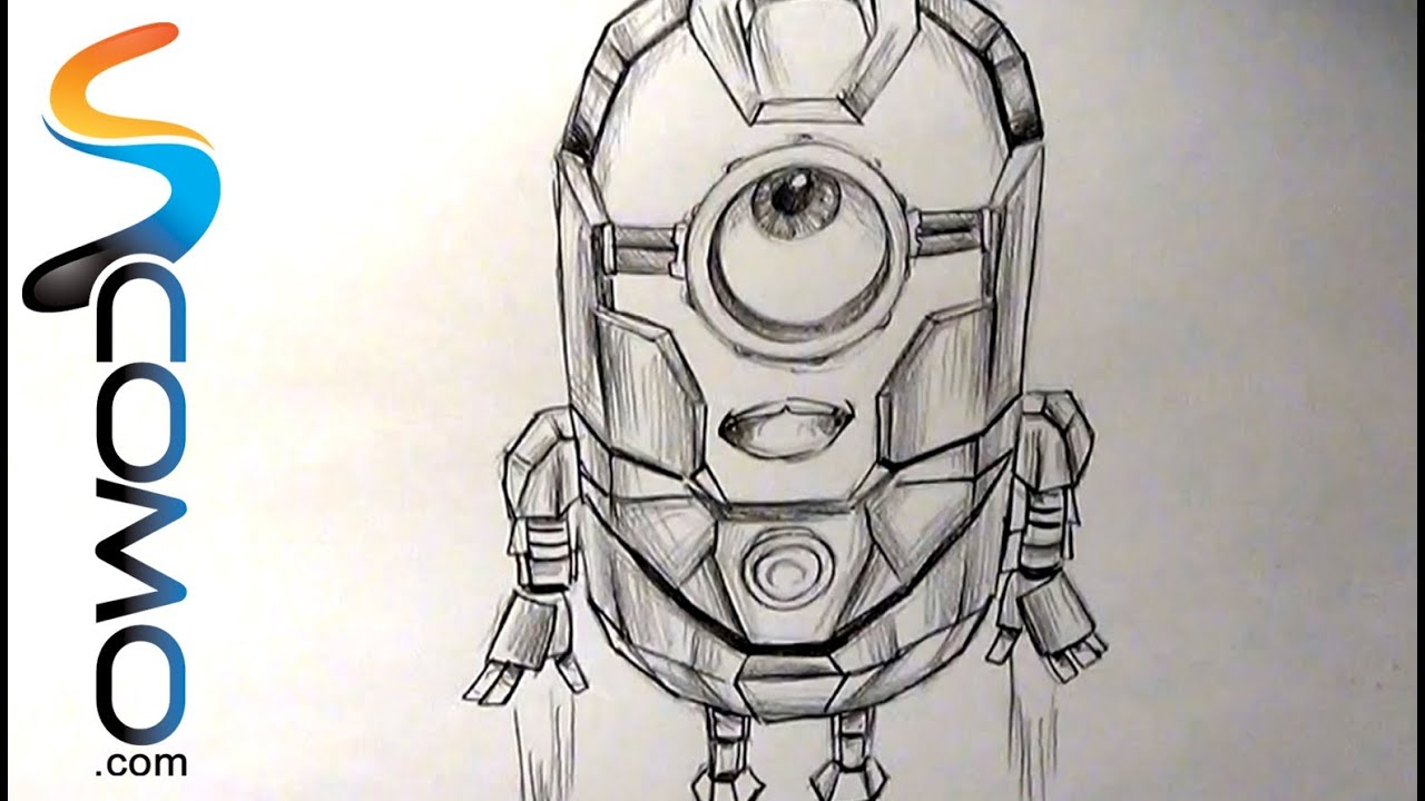 Dibujar Minion Iron Man - YouTube