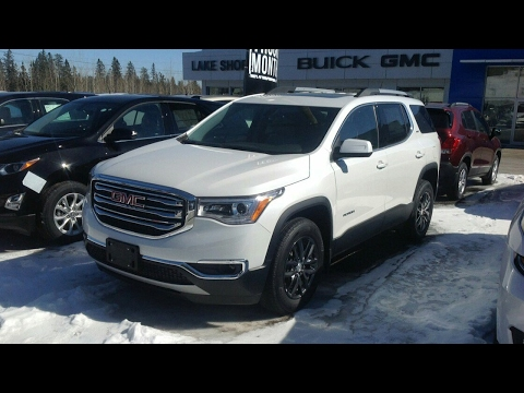 2017 gmc acadia slt 1 awd start up full tour and review. Black Bedroom Furniture Sets. Home Design Ideas