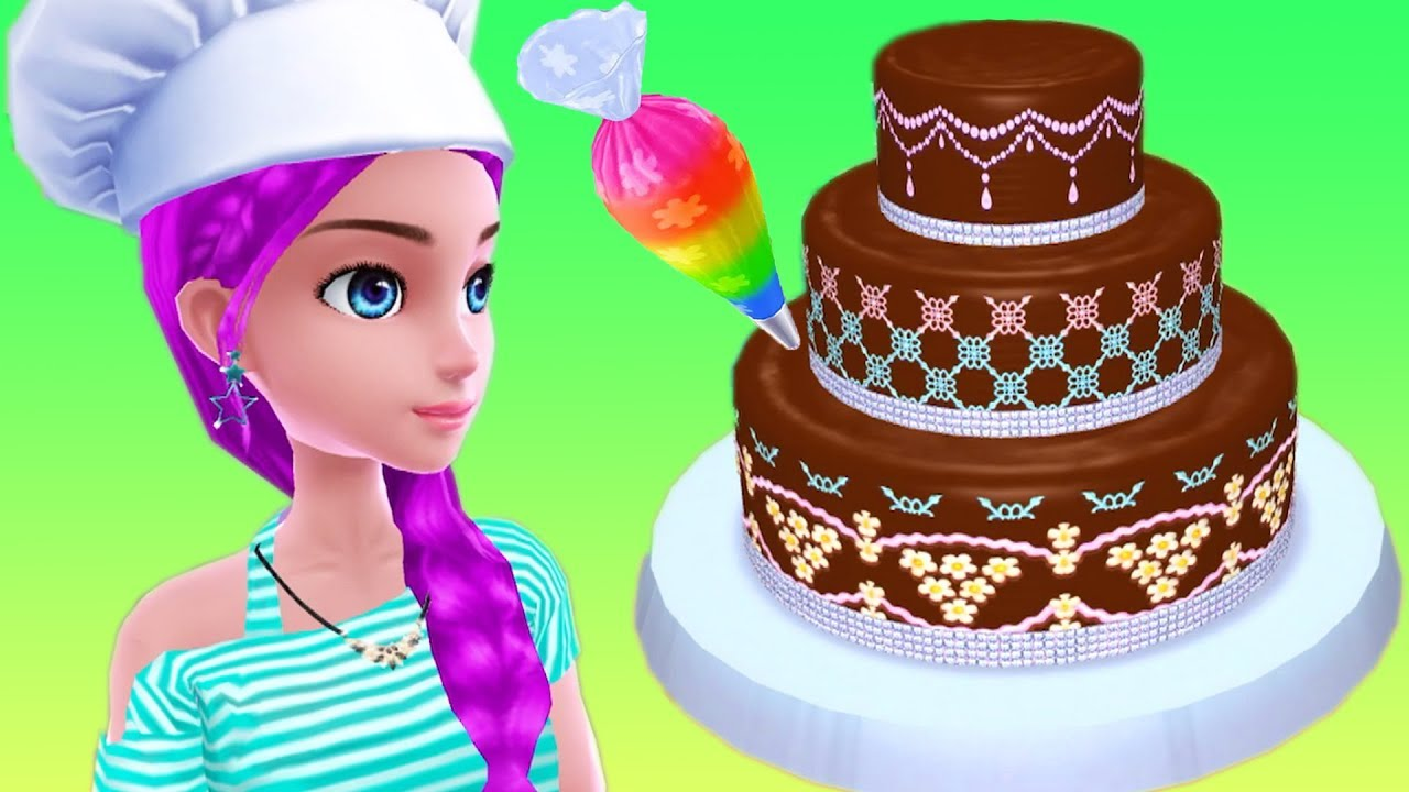 Permainan Anak Perempuan Masak Masakan Membuat Kue Ulang Tahun Real Cake Maker Youtube
