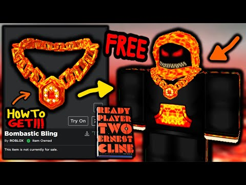 HOW TO GET! Bombastic Bling! ROBLOX READY PLAYER TWO EVENT!
