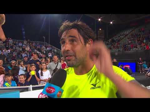 Marcos Baghdatis On Court Interview | World Tennis Challenge 2018